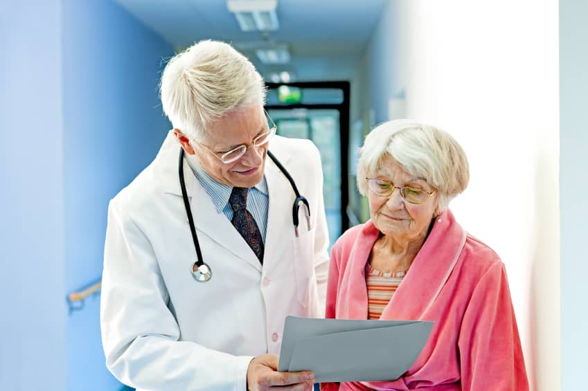 Social Security. Doctor and Patient discussing,